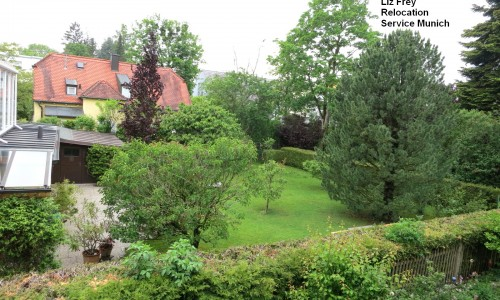 View from balcony (quiet garden side)